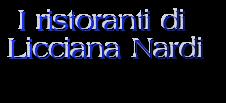 I ristoranti di Licciana Nardi