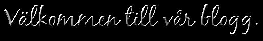 Välkommen till vår blogg.