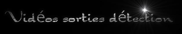 Vidéos sorties détection