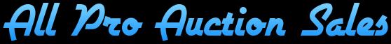 All Pro Auction Sales Logo