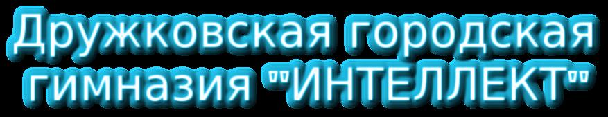 Дружковская городская  гимназия ИНТЕЛЛЕКТ