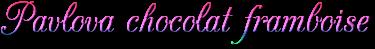 Pavlova chocolat framboise