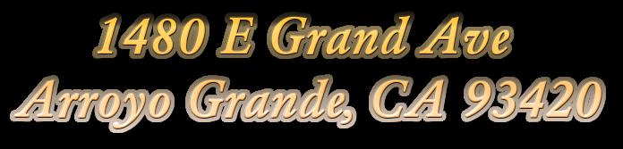 1480 E Grand AveArroyo Grande, CA 93420