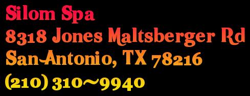 Silom Spa 8318 Jones Maltsberger Rd San Antonio, TX 78216 (210) 310-9940