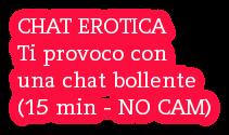 CHAT EROTICA Ti provoco con una chat bollente (15 min - NO CAM)