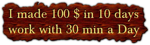 I made 100 $ in 10 days work with 30 min a Day