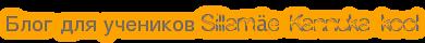 Блог для учеников Sillamäe Kannuka kool
