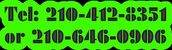 Tel: 210-412-8351 or 210-646-0906