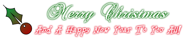 Merry Christmas And A Happy New Year To You All!