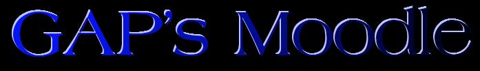 GAP's Moodle logo