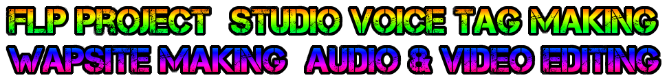 Flp Project  Studio Voice Tag Making Wapsite Making  Audio & Video Editing