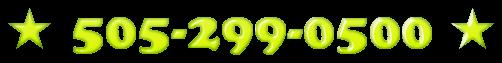 ★ 505-299-0500 ★