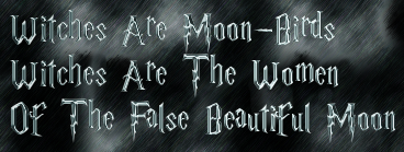 Witches Are Moon-Birds