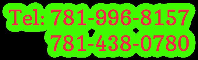 Tel: 781-996-8157          781-438-0780
