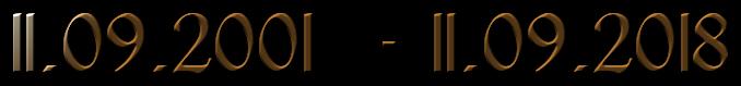 11.09.2001  - 11.09.2019