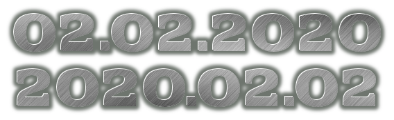02.02.2020 2020.02.02