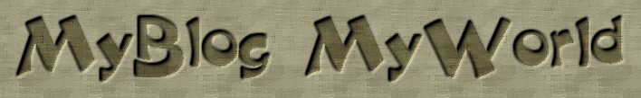 MyBlog MyWorld