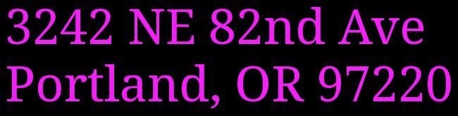 3242 NE 82nd Ave  Portland, OR 97220