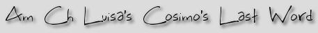 Am Ch Luisa's Cosimo's Last Word