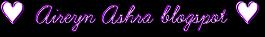 ♥ Aireyn Ashra blogspot ♥