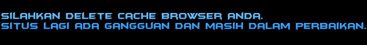 Silahkan delete Cache Browser Anda.  Situs lagi ada gangguan dan masih Dalam perbaikan.