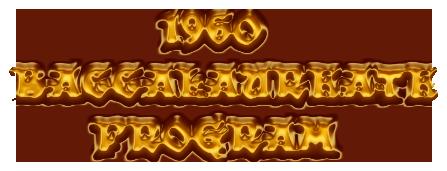 1960 BACCALAUREATE      PROGRAM