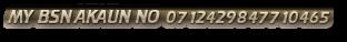 MY BSN AKAUN NO 0712429847710465